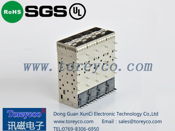 SFP光纤连接器2×4侧面
