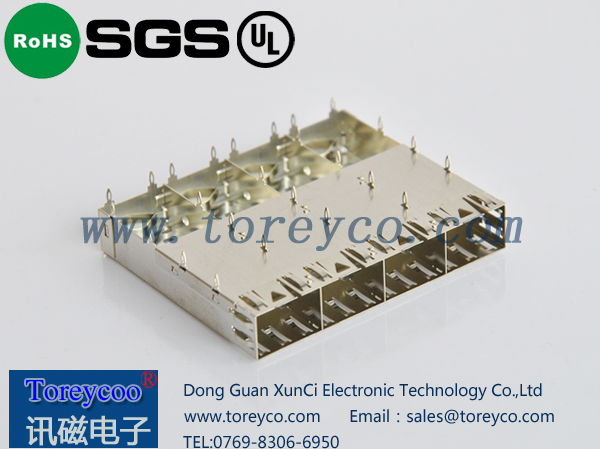 SFP光纤连接器1×4光纤连接器笼子