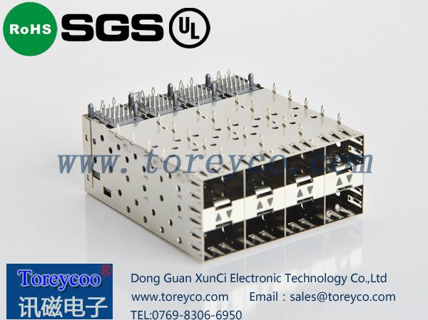 SFP 2×4光纤连接器