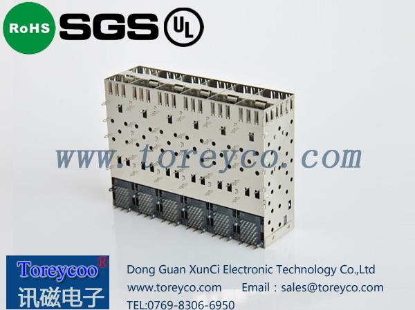 SFP光纤连接器2×6