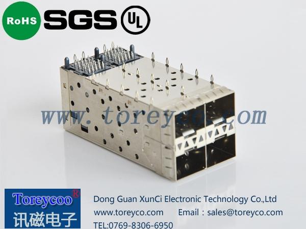 SFP 2×2光纤连接器 光纤模块座