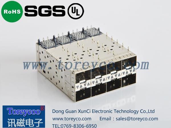 SFP 2×4光纤连接器 光纤模块座
