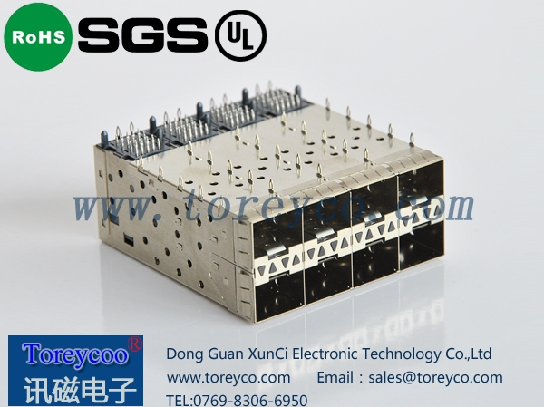 SFP光纤连接器2×4光纤模块座