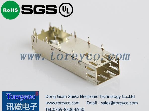 SFP外壳光纤连接器笼子1×1