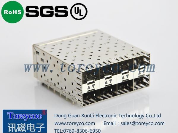 SFP光纤连接器2×4